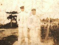 cir 1920 - David Edmund Morris, Chief Engineer, USS Ranger. David Edmund Morris is the officer on the right of the photo.