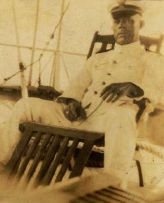 David Edmund Morris 1920's Puerto Rico Photo of D.E. Morris on a ship while he was a Chief Engineer of the USS Ranger