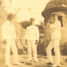 cir 1920 - David Edmund Morris, Chief Engineer, USS Ranger. David Edmund Morris is the officer in the middle of the photo.