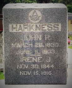 Biloxi Pioneers - John Rankin Harkness and his wife, Irene Jordan Harkness. Old Biloxi Cemetery, Biloxi, Harrison County, Mississippi