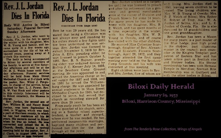 Rev J L Jordan Dies in Florida